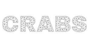 Полигональные КРАБЫ сетки отправляют SMS титру иллюстрация вектора