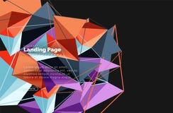 Полигональный геометрический дизайн, абстрактная форма сделанная треугольников, ультрамодная предпосылка Стоковые Изображения RF