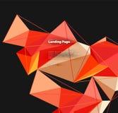 Полигональный геометрический дизайн, абстрактная форма сделанная треугольников, ультрамодная предпосылка Стоковая Фотография RF
