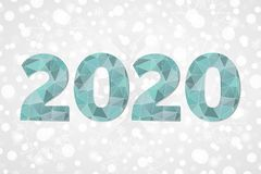 полигональный символ вектора 2020 Счастливый значок треугольника конспекта Нового Года звезды абстрактной картины конструкции укр Стоковое фото RF