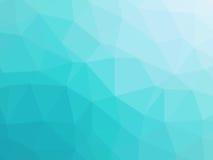Полигон абстрактного градиента сини бирюзы низкий сформировал предпосылку Стоковые Фотографии RF