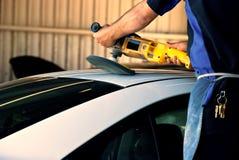 полировать автомобиля Стоковые Изображения RF