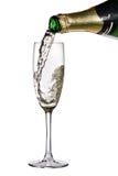 политая каннелюра шампанского Стоковое Фото