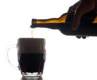 политая пинта стекла пива Стоковые Фото