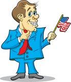 политикан флага Стоковая Фотография