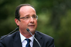 политикан hollande francois французский Стоковые Изображения