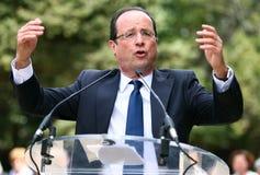 политикан hollande francois французский Стоковые Фотографии RF