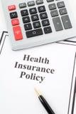 политика медицинской страховки Стоковые Фотографии RF