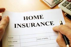 Политика страхования жилья Стоковая Фотография RF
