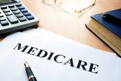 Политика Medicare стоковое изображение rf