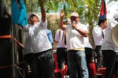 Политическая демонстрация Камбоджа Стоковая Фотография