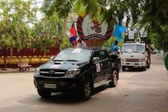 Политическая демонстрация Камбоджа Стоковые Изображения