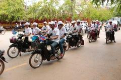 Политическая демонстрация Камбоджа Стоковое фото RF