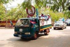 Политическая демонстрация Камбоджа Стоковое Фото