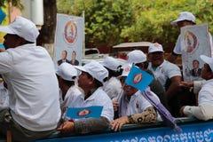 Политическая демонстрация Камбоджа Стоковое Изображение