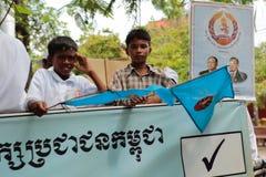 Политическая демонстрация Камбоджа Стоковые Изображения RF