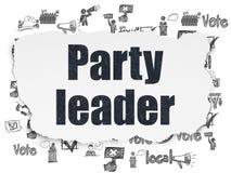 Политическая концепция: Партийный руководитель на сорванной бумажной предпосылке иллюстрация штока