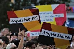 Политический митинг во время немецкой избирательной кампании которая была выиграна CDU вчера Стоковое фото RF