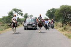 Политическое движение BJP в Индии Стоковые Фотографии RF