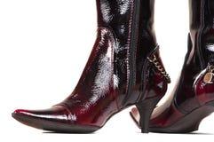 политура ботинок женская Стоковые Изображения RF