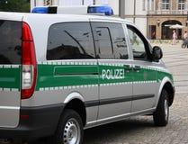 Полицейская машина в Германии стоковые фотографии rf