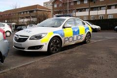 Полицейская машина не при исполнении служебных обязанностей Великобритания стоковая фотография rf
