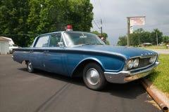 Полицейская машина 1960 Ford Стоковое фото RF