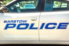 Полицейская машина Barstow стоковое изображение rf