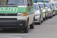Полицейские машины. Германия Стоковое Изображение