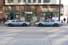 Полицейские машины Сиэтл Стоковые Фотографии RF