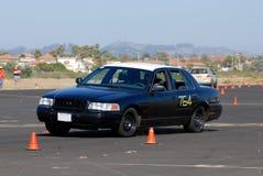 полиции автомобиля старые стоковое фото rf
