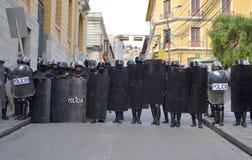 полиции Боливии riot Стоковые Изображения