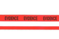 полиции доказательства связывают тесьмой Стоковые Фотографии RF