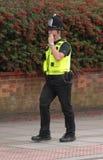полиции звонока передают по радио Стоковые Изображения RF