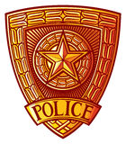 полиции значка Стоковые Фотографии RF