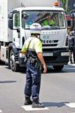 полиции Испания интервенции barcelona Стоковая Фотография RF