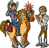 полиции ковбоя Бесплатная Иллюстрация
