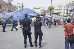 полиции лагеря наблюдают Стоковые Фото