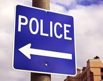 Полиции подписывают стоковое изображение rf
