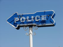полиции подписывают стоковая фотография