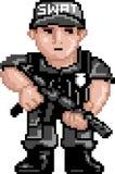 полиции pixelart swat Стоковые Изображения RF