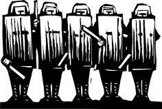 полиции riot иллюстрация штока