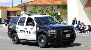 Полиции SUV Burbank Стоковое Изображение RF
