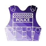 Полиция возлагает значок иллюстрация штока