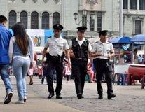 Полиция в Гватемале Стоковые Изображения RF