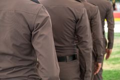 Полиция гребет Стоковое Фото