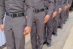 Полиция гребет Стоковое Изображение