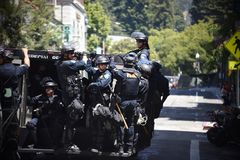 Полиция на движении стоковые изображения