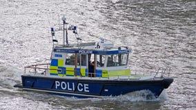 Полиция реки Лондона патрулирует Стоковая Фотография