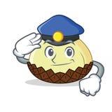 Полиция snake шарж характера плодоовощ бесплатная иллюстрация